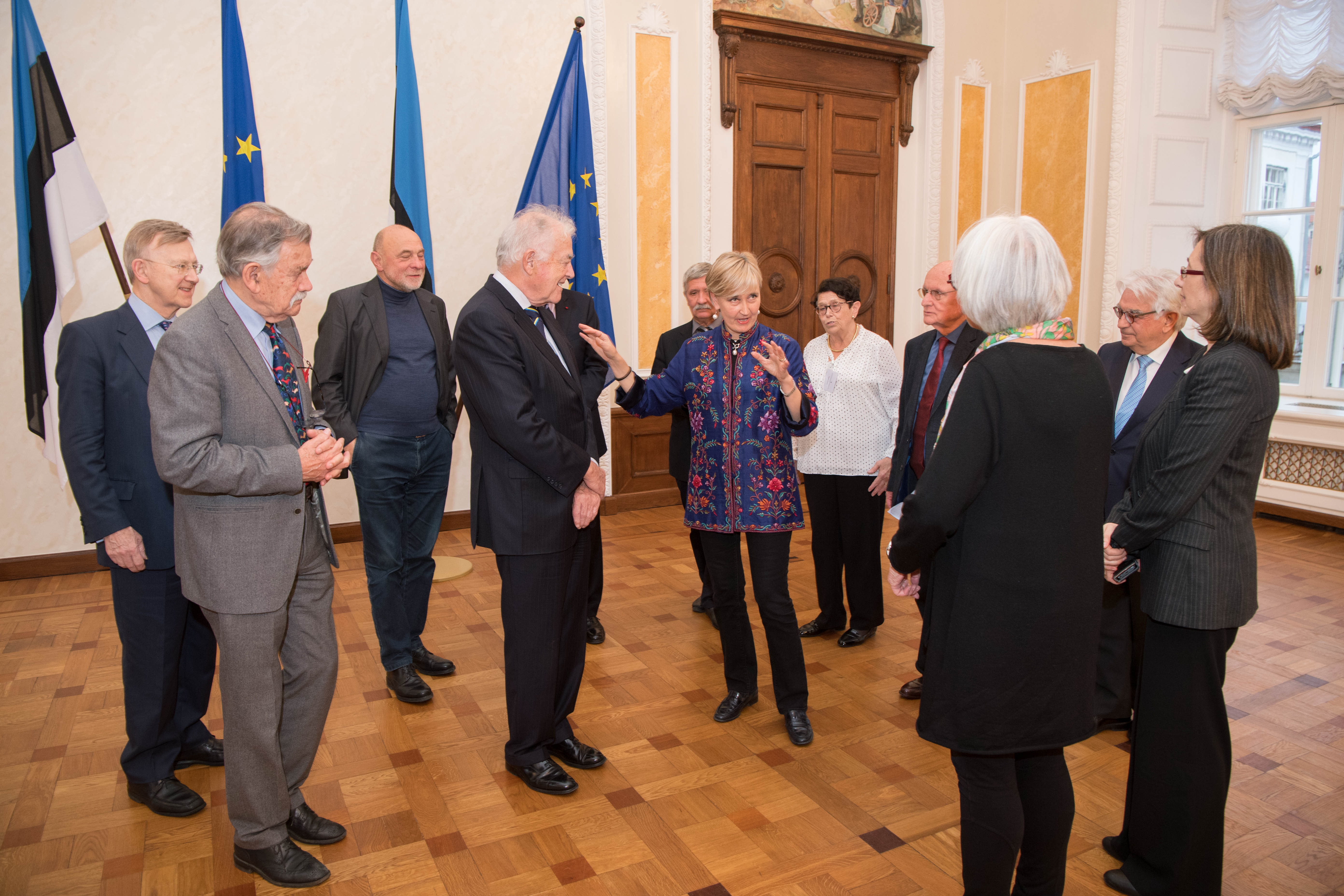 Member of the Riigikogu Marianne Mikko met with a delegation of the European Parliament Former Members Association